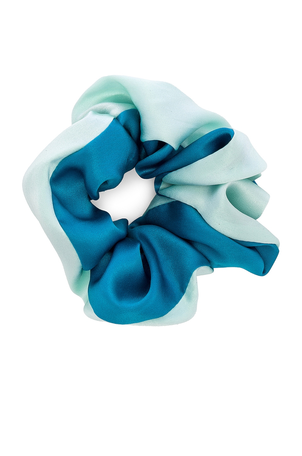DONNI. Two Tone Chiquita Scrunchie в цвете Seafoam & Turquoise