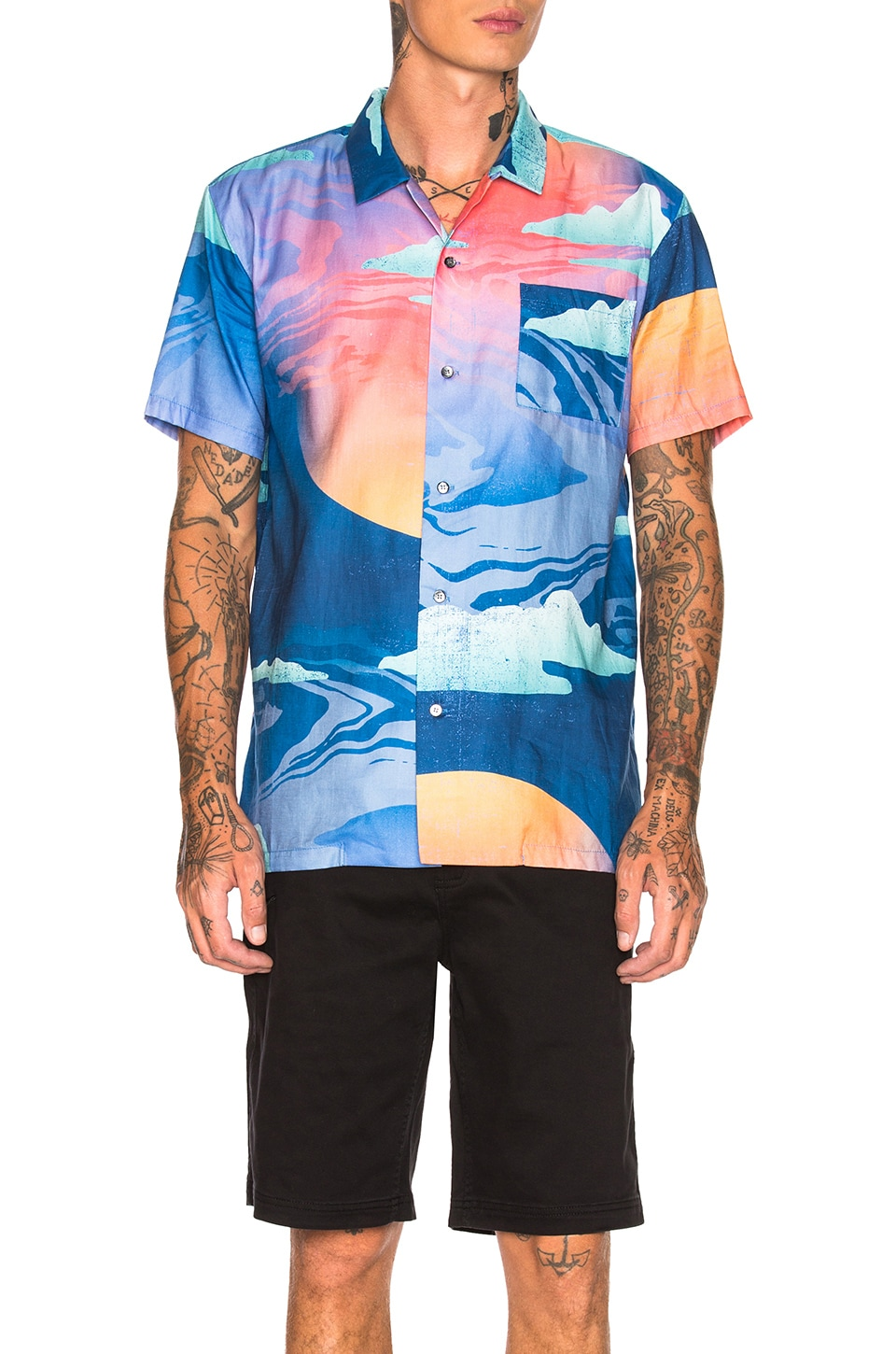 DOUBLE RAINBOUU Hawaiian Shirt in Wet Dream