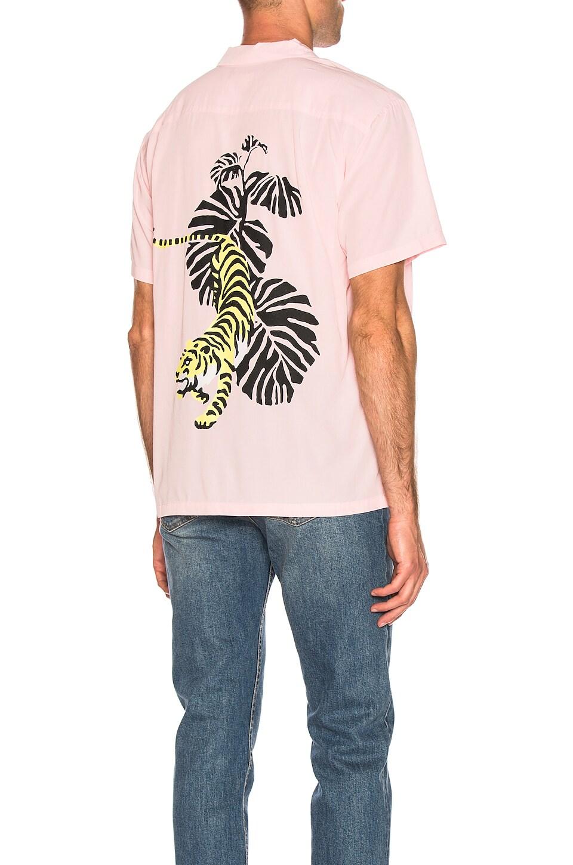 DOUBLE RAINBOUU Hawaiian Shirt in Pink Tiger