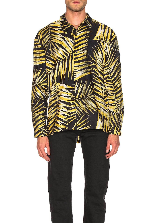 DOUBLE RAINBOUU Hawaiian Shirt in Tiger Palm