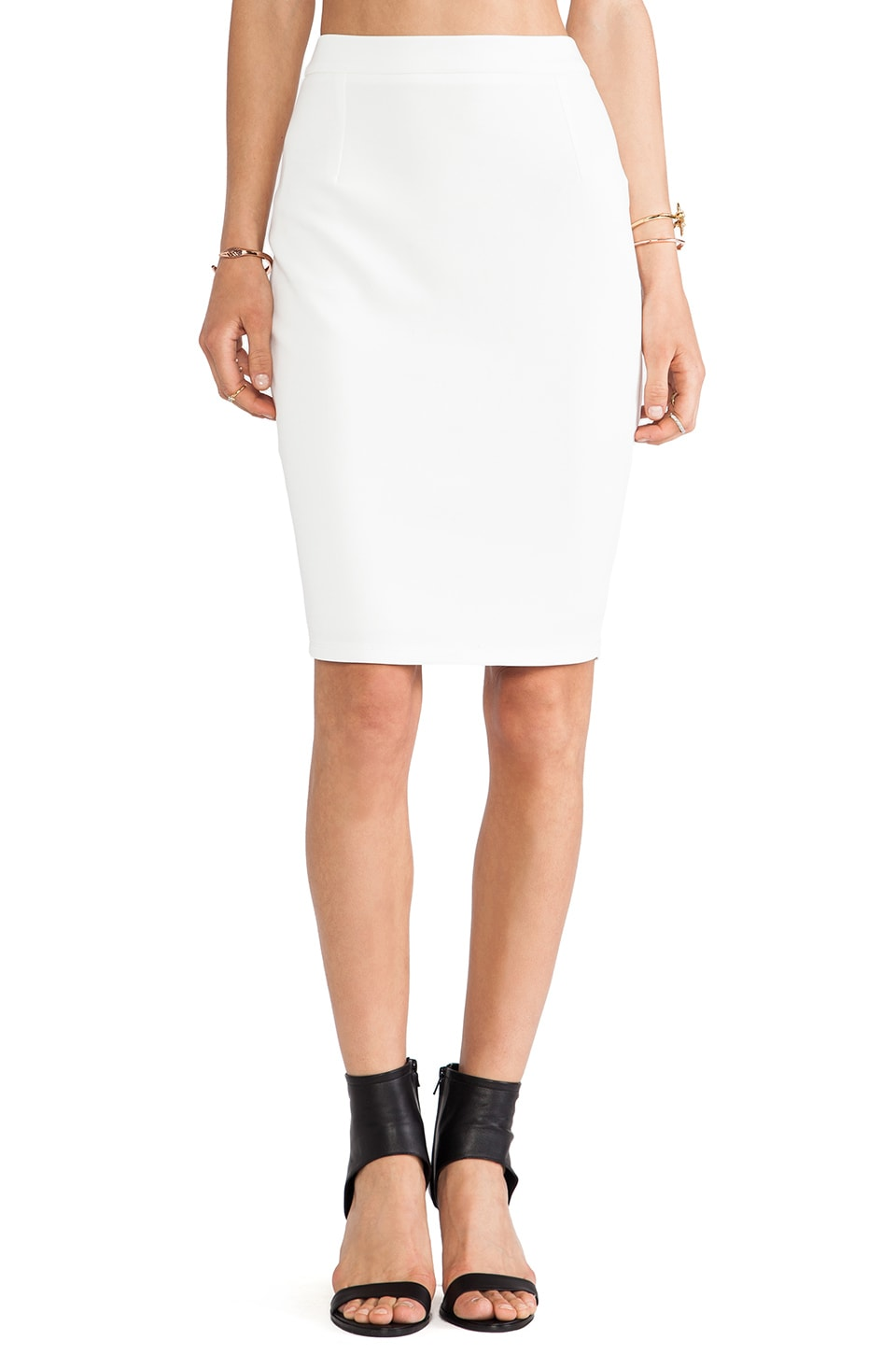 d.RA Jasper Pencil Skirt in White