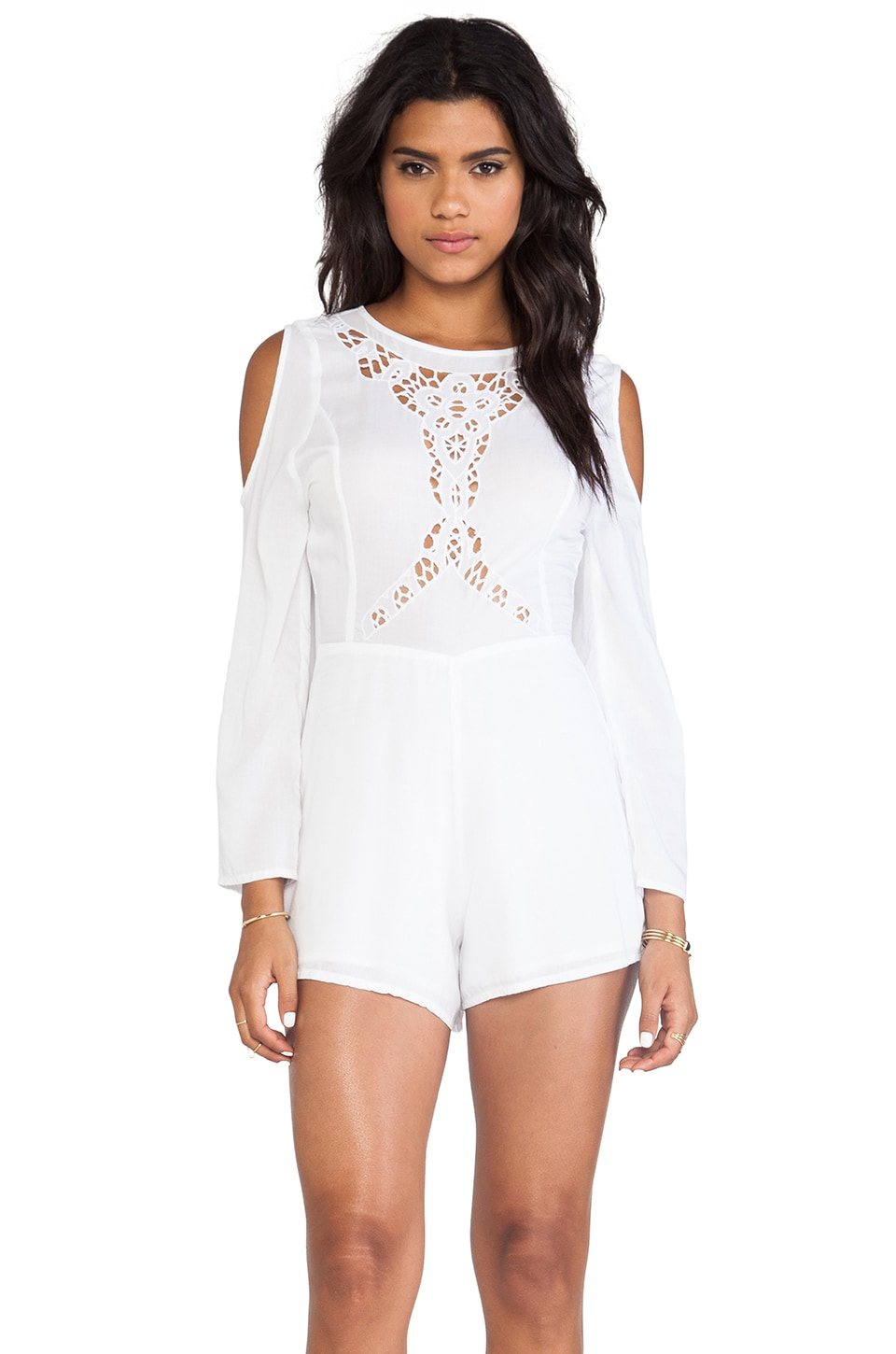 d.RA Quinn Romper in White