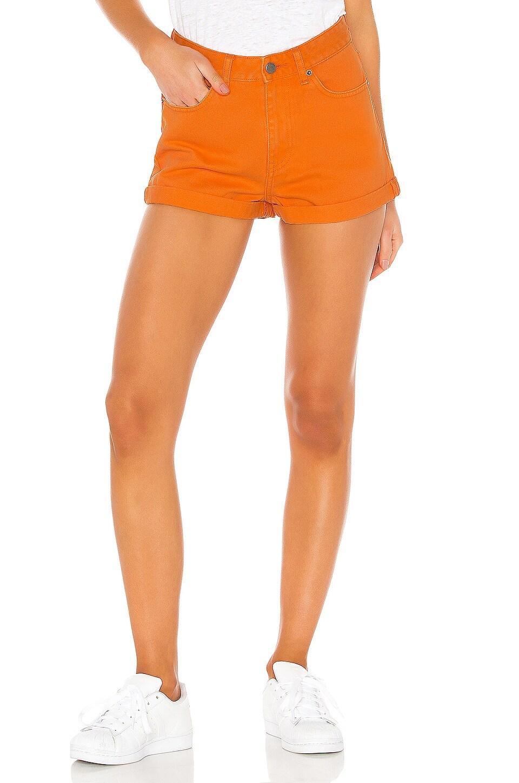 Dr. Denim Jenn Short in Stone Orange