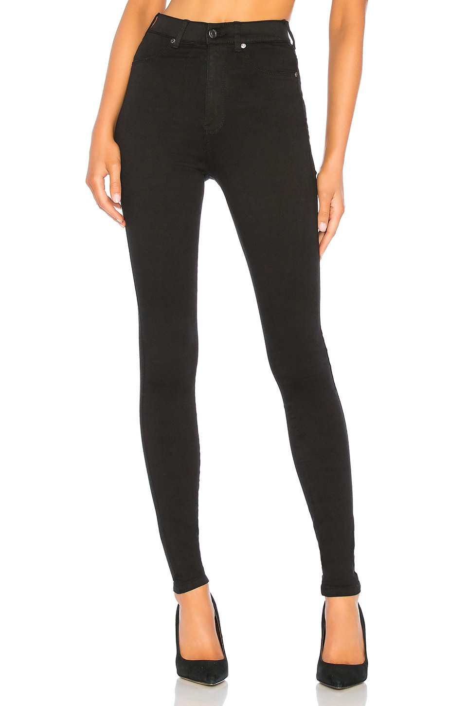 Dr. Denim High Waist Solitaire Jean in Black