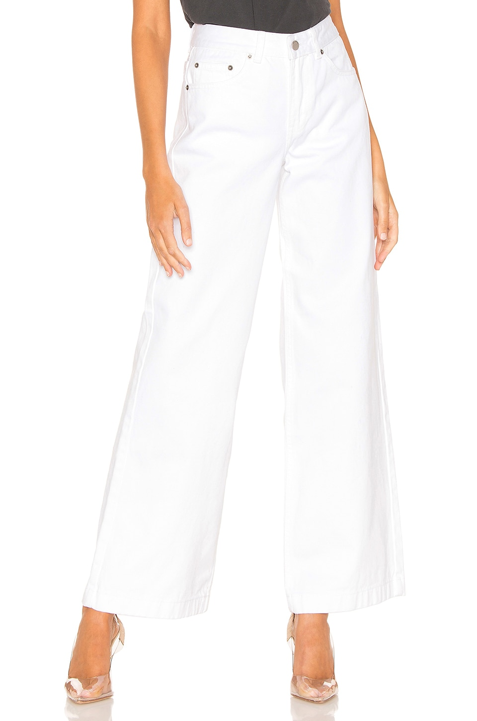 Dr. Denim Jam Wide Leg in White