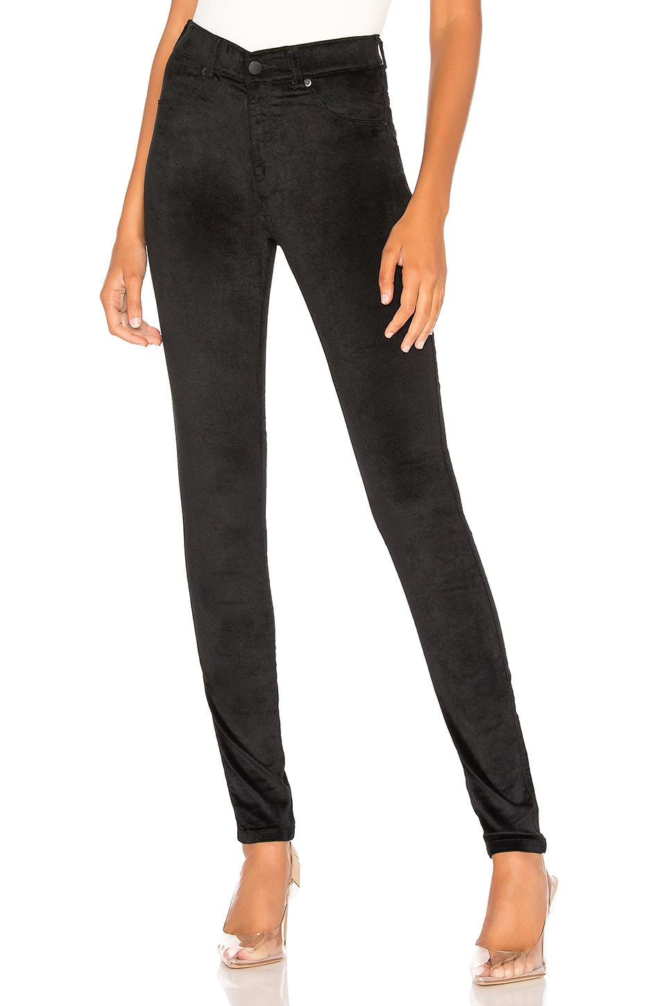 Dr. Denim Plenty Velvet Pant in Deep Black Velvet