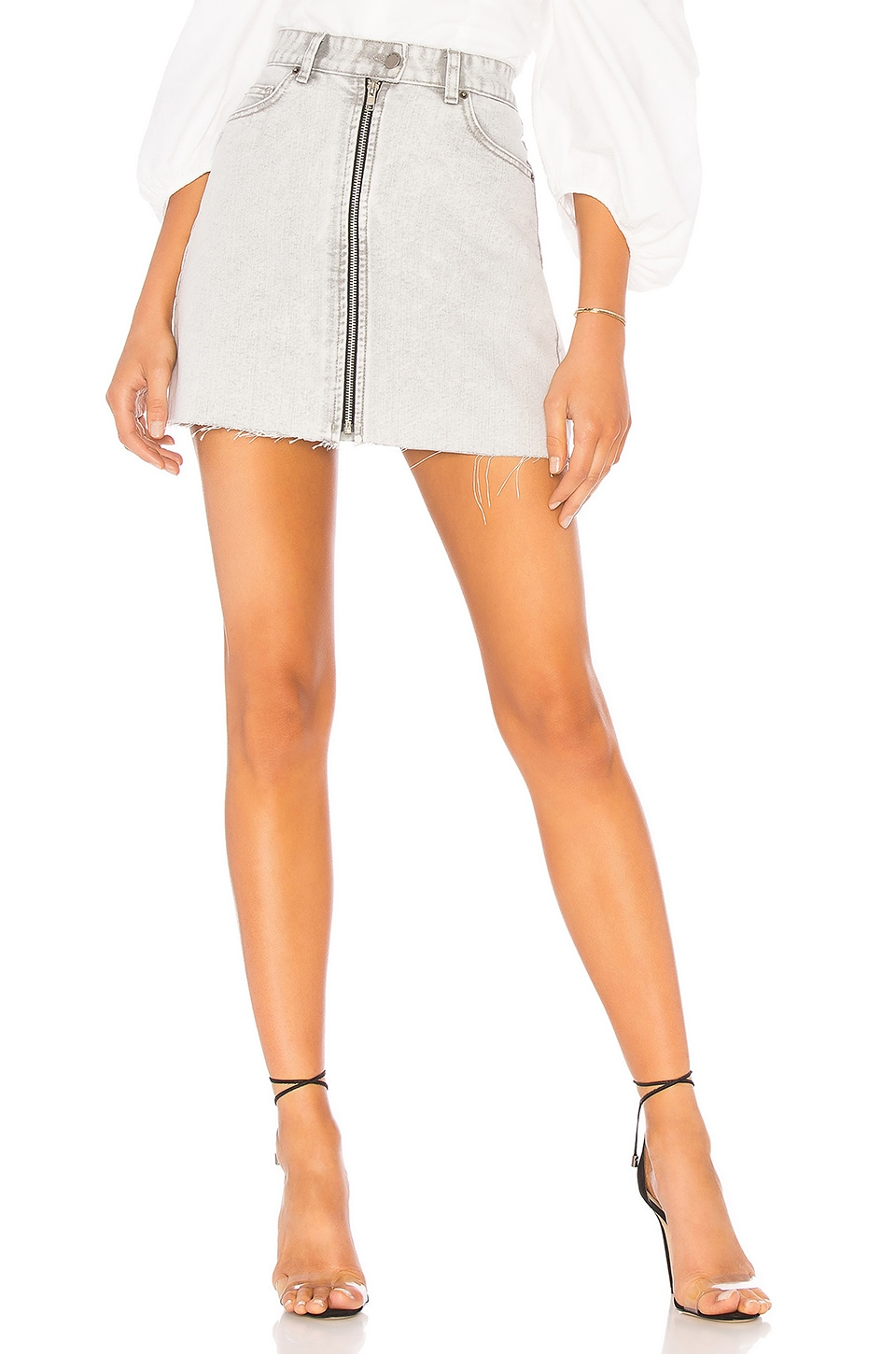Dr. Denim Dillon Denim Skirt in Dirty White