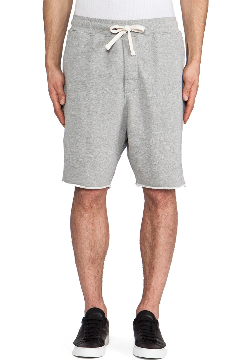 Drifter Hamilton Sweatshort in Heather Grey