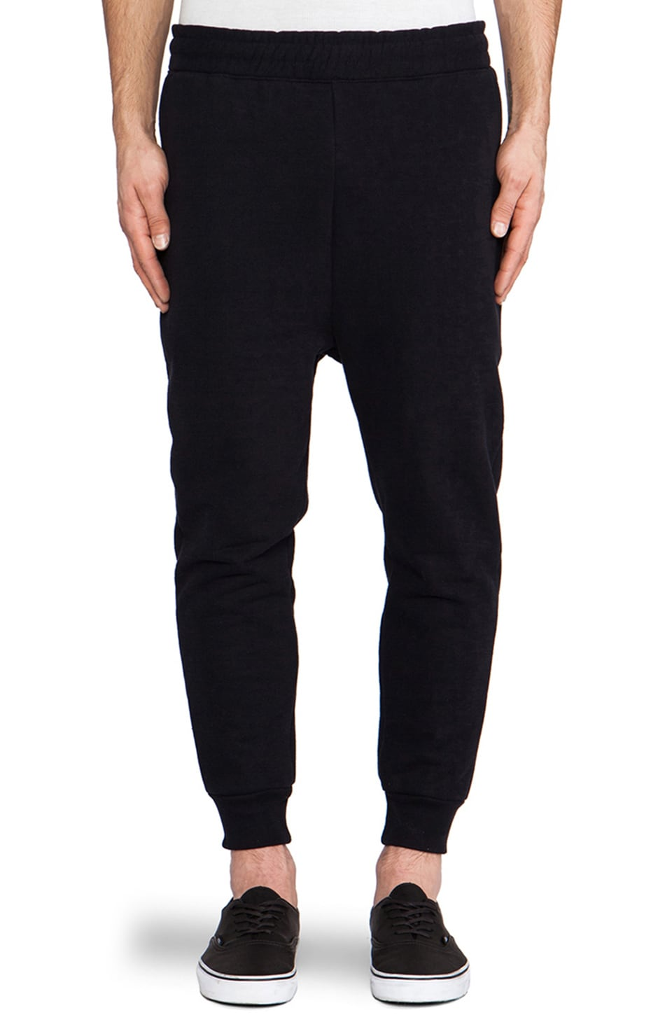 Drifter Burst Sweatpant in Black & Navy