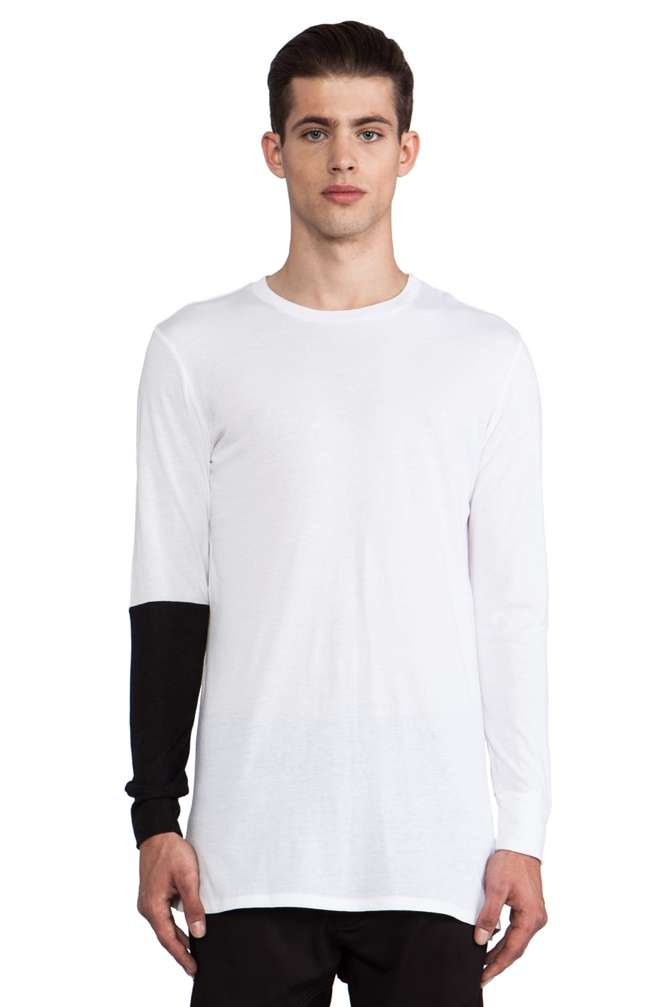 Drifter Gerald Tee in White/Black