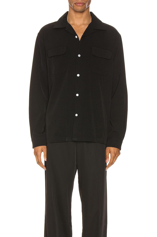 Drifter Terry Long Sleeve Shirt in Black