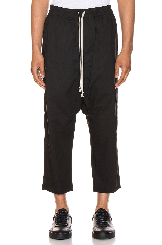 DRKSHDW by Rick Owens Drawstring Cropped Pants in Black