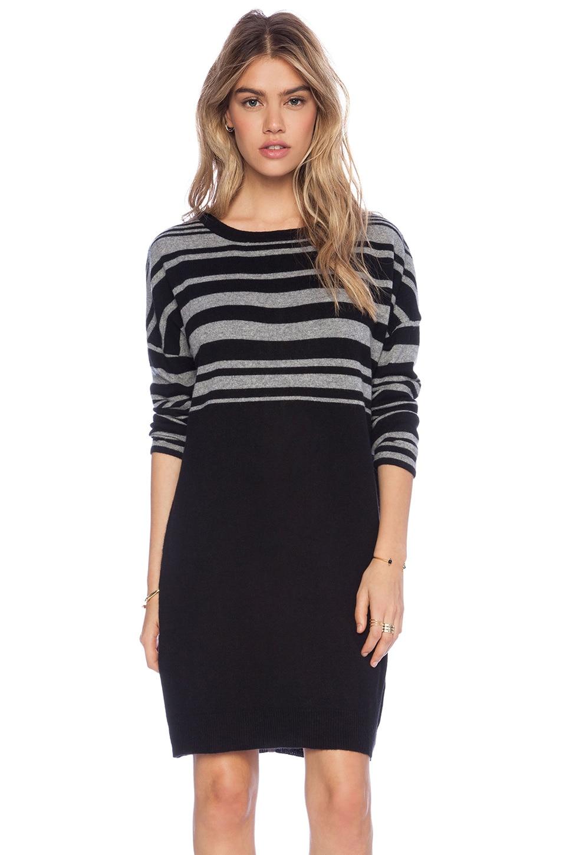 DUFFY Sweater Dress in Fog & Black