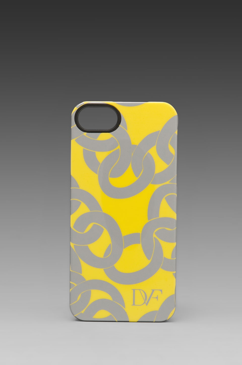 Diane von Furstenberg Iphone Case in Metallic Chains Yellow/Sliver