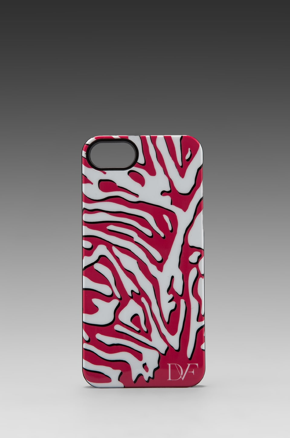Diane von Furstenberg Iphone 5 Case in Zebra Shadow Pink/White