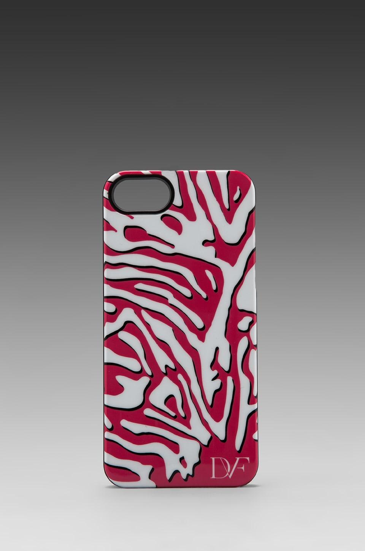 Diane von Furstenberg Iphone 5 Case in Zebra Shadow Pink/White