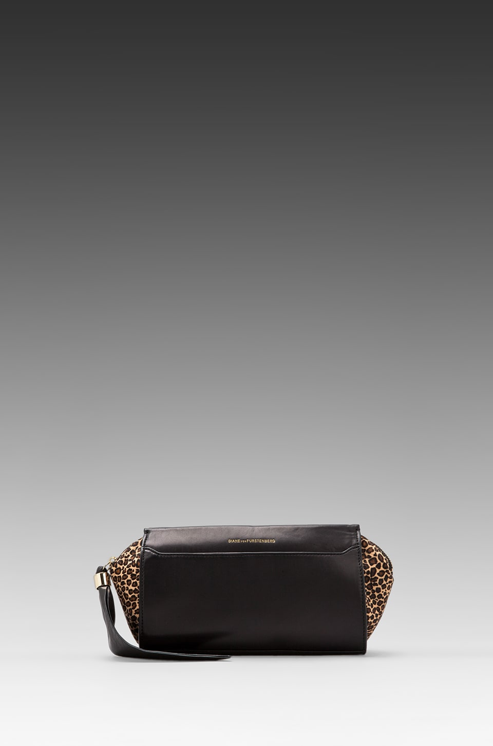Diane von Furstenberg Zip-and-Go Clutch in Black