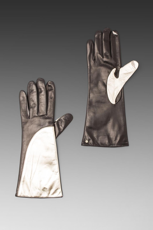 Diane von Furstenberg Asymmetrical Glove in Storm/Chalk