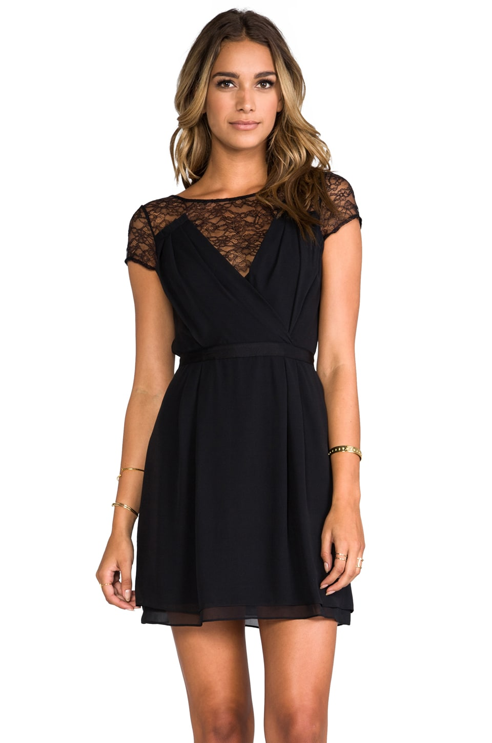 Diane von Furstenberg Holli Dress in Black
