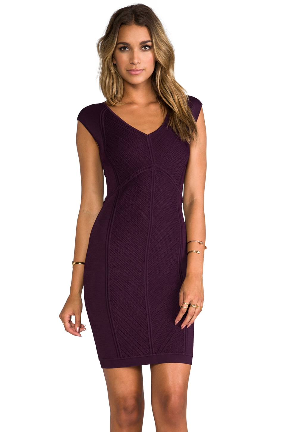 Diane von Furstenberg Cressida Dress in Brazen Plum