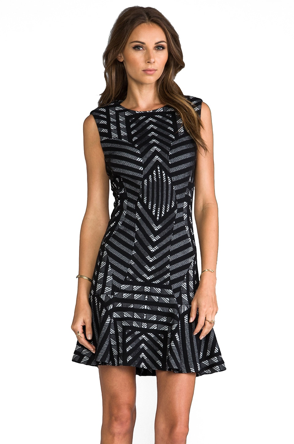 Diane von Furstenberg RUNWAY Carlie Dress in Black/White