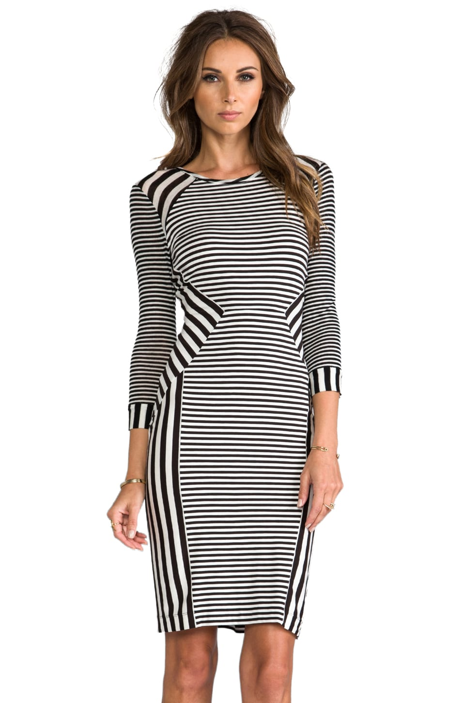 Diane von Furstenberg RUNWAY Haven Dress in Black/White