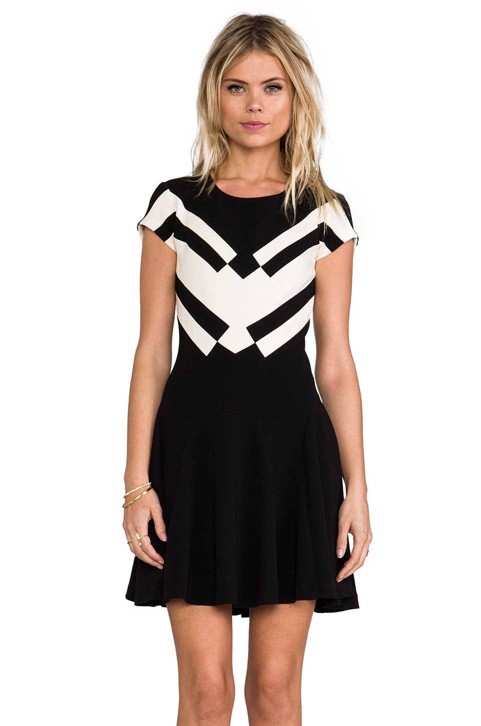 Diane von Furstenberg RUNWAY Gail Dress in Black/Ecru