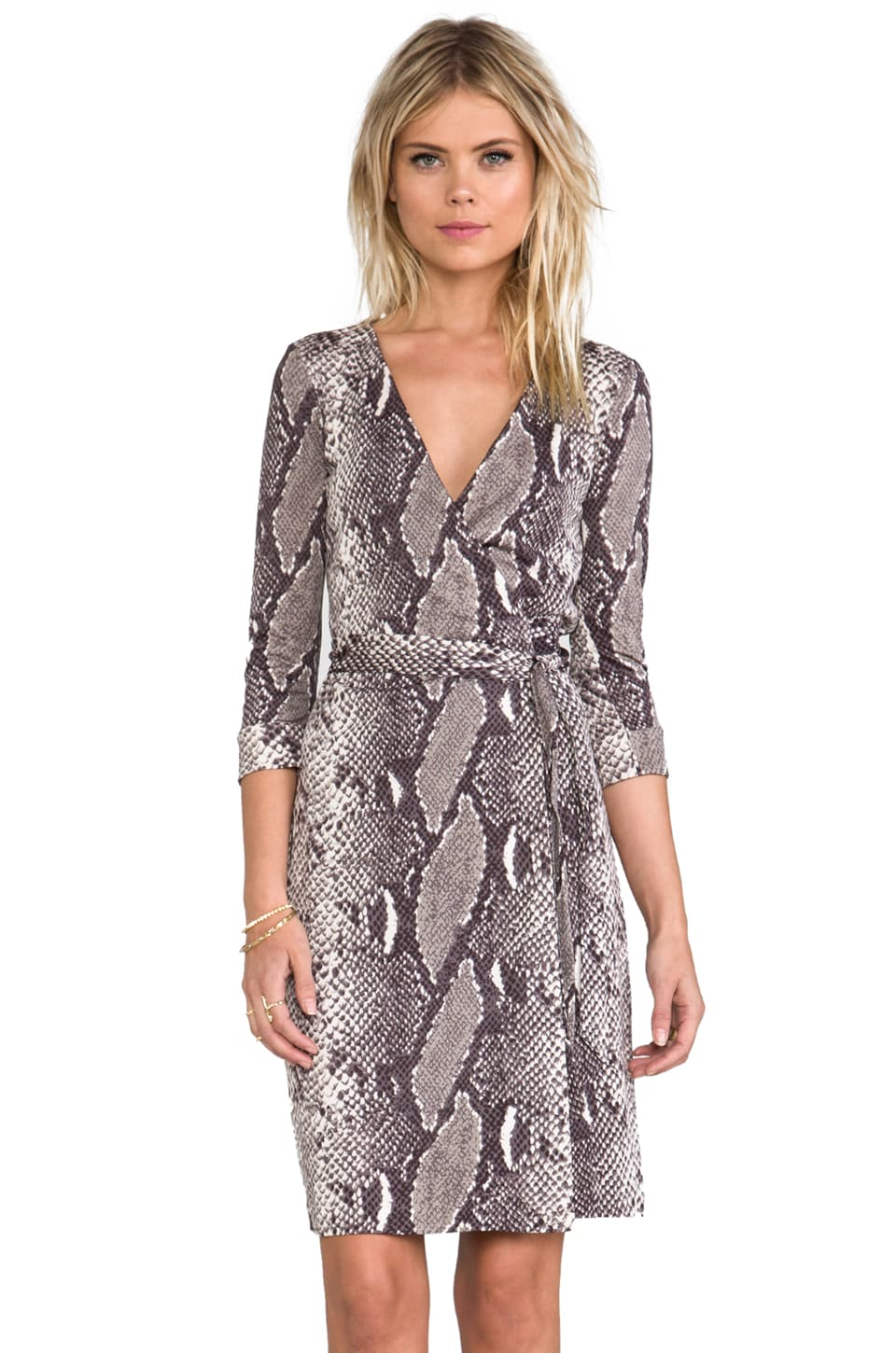 Diane von Furstenberg New Julian Two Silk Jersey Dress in Python