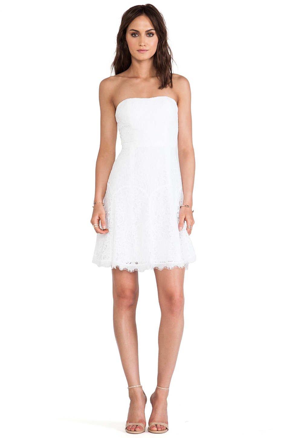 Diane von Furstenberg Amira Lace Dress in White