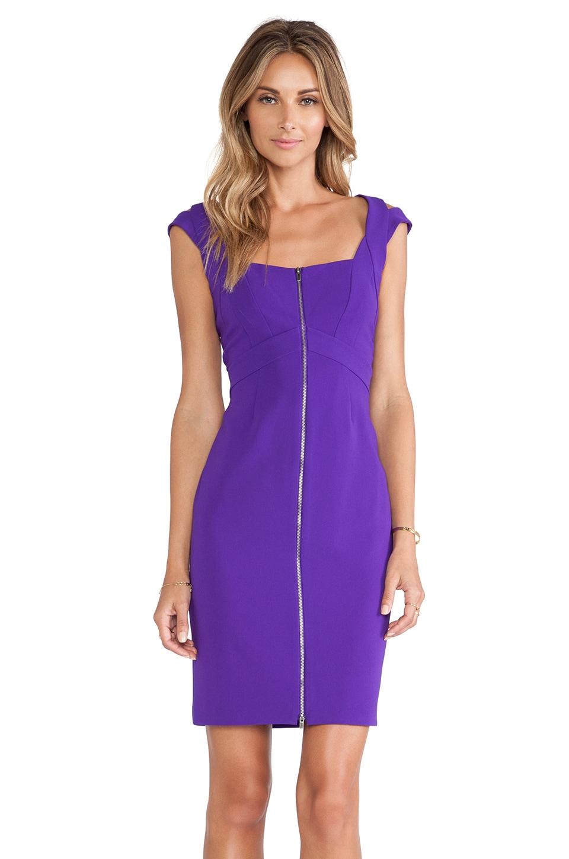 Diane von Furstenberg Corinne Zipper Front Dress in Acid Grape