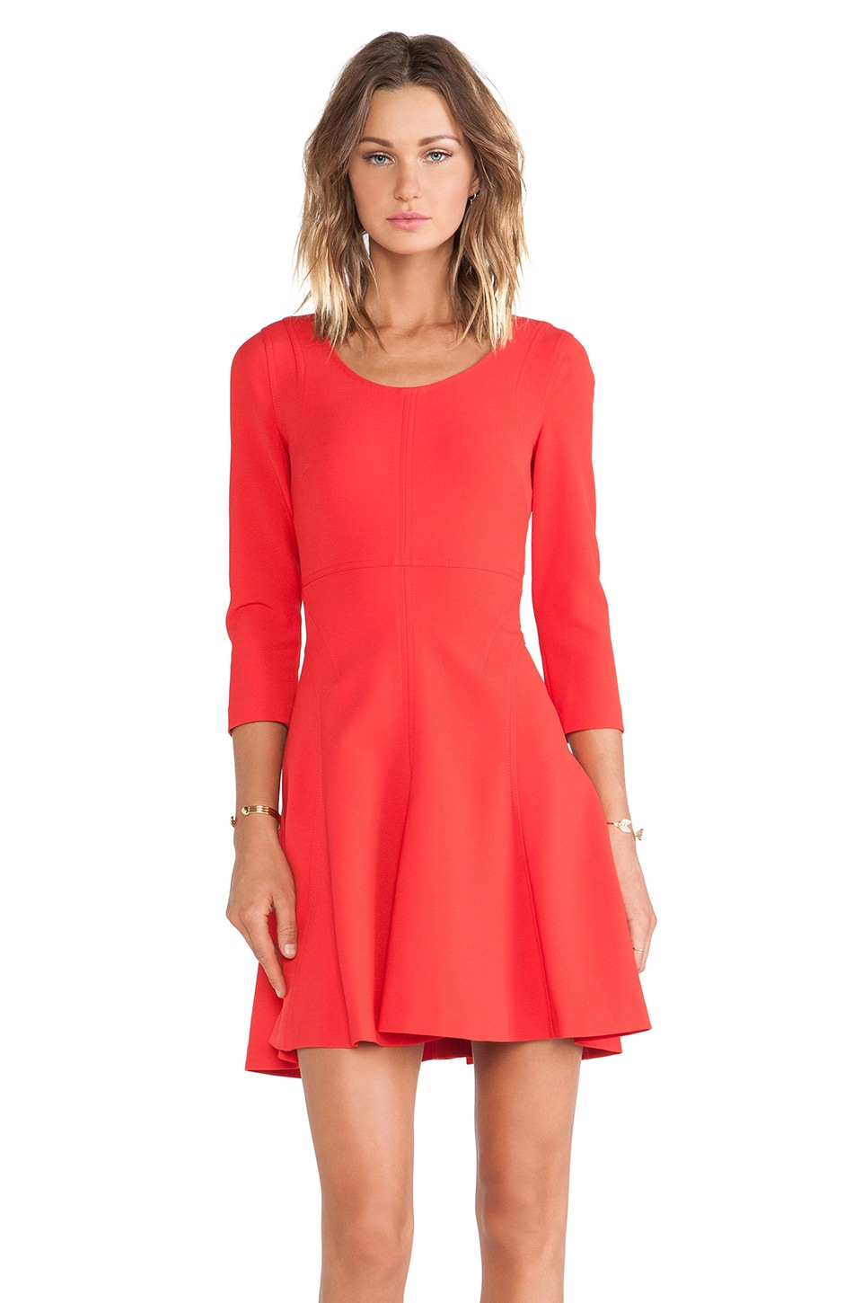 Diane von Furstenberg A Line Dress in Poppy