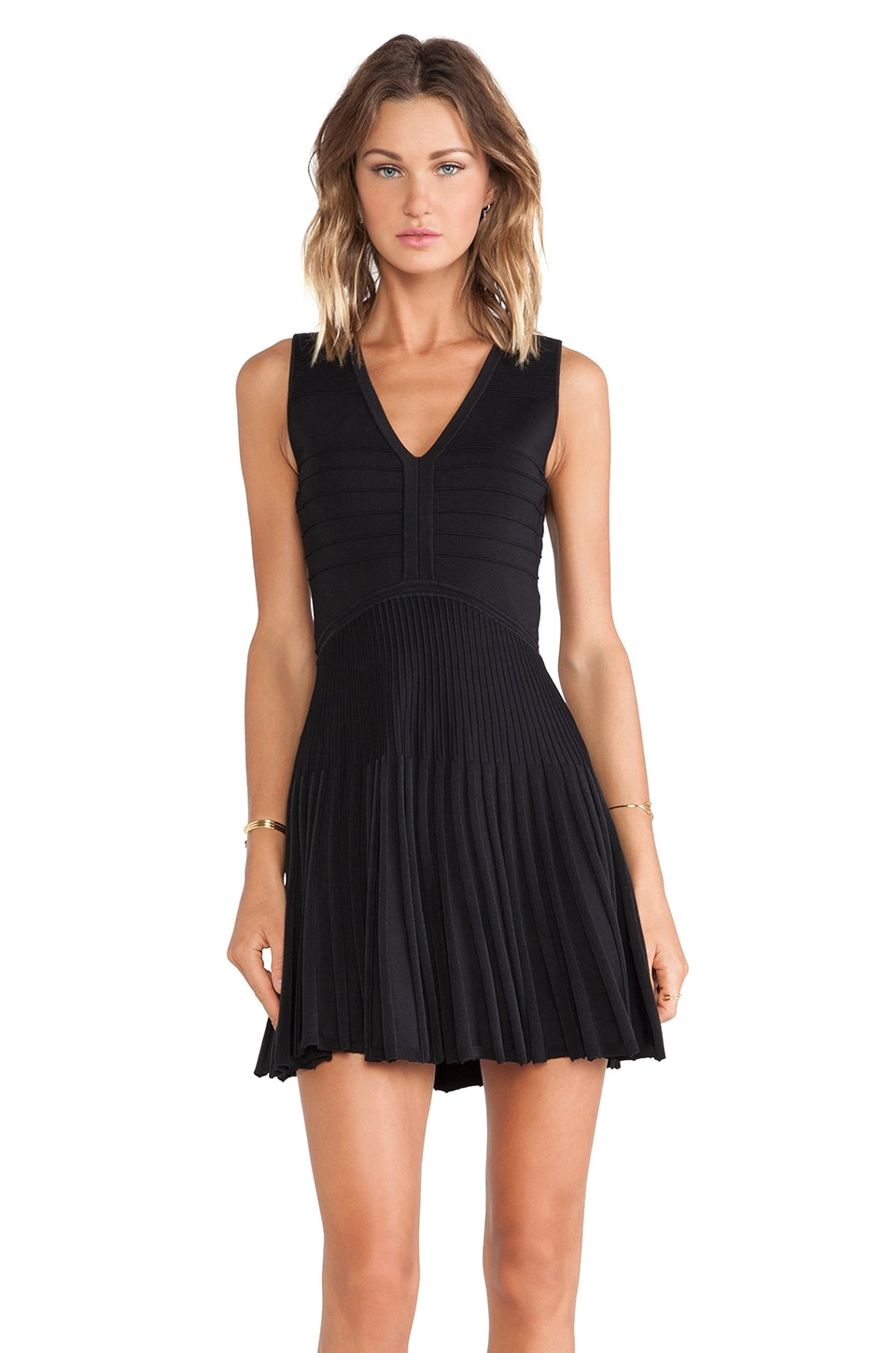 Diane von Furstenberg Fit and Flare Dress in Black
