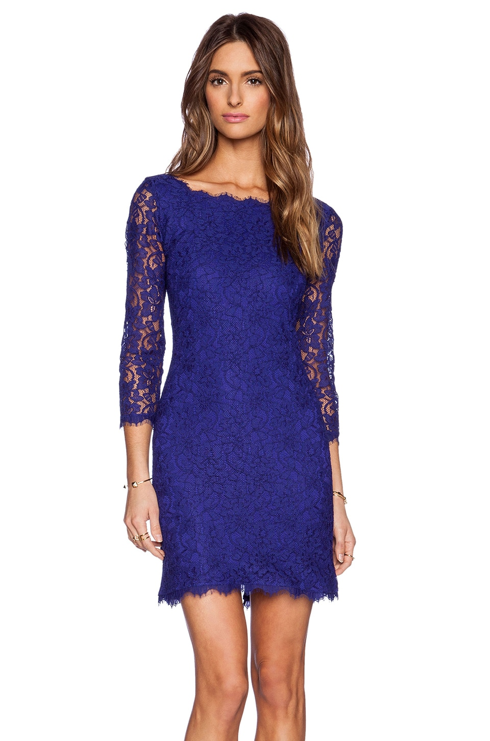Dvf Zarita Dress Sale Zarita Dress in Chrome Purple