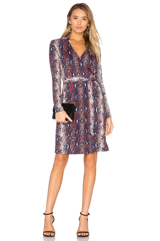 The wrap dress dvf - Diane Von Furstenberg Jeannae Wrap Dress In Tissera French Blue