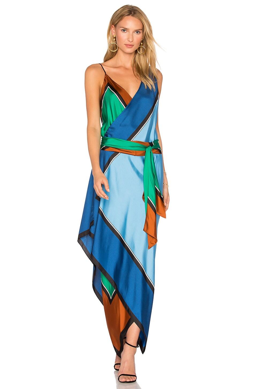 Diane von Furstenberg Scarf Tier Dress in Arago Print