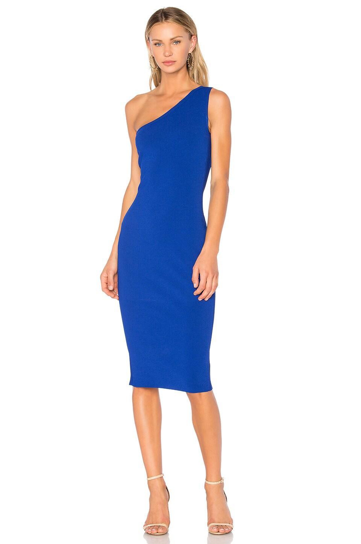 diane von furstenberg one shoulder dress klein blue modesens. Black Bedroom Furniture Sets. Home Design Ideas