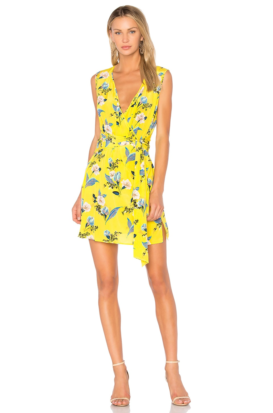 diane von furstenberg wrap dress yellow modesens