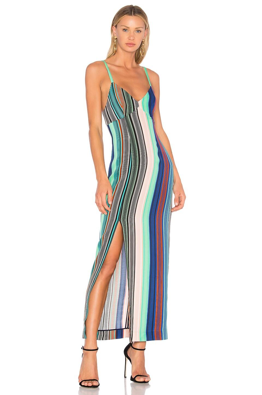 Diane von Furstenberg Slit Dress in Burman Stripe Multi