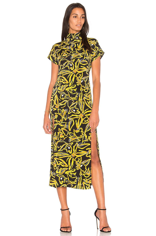 Diane von Furstenberg Side Slit Dress in Elsden Black