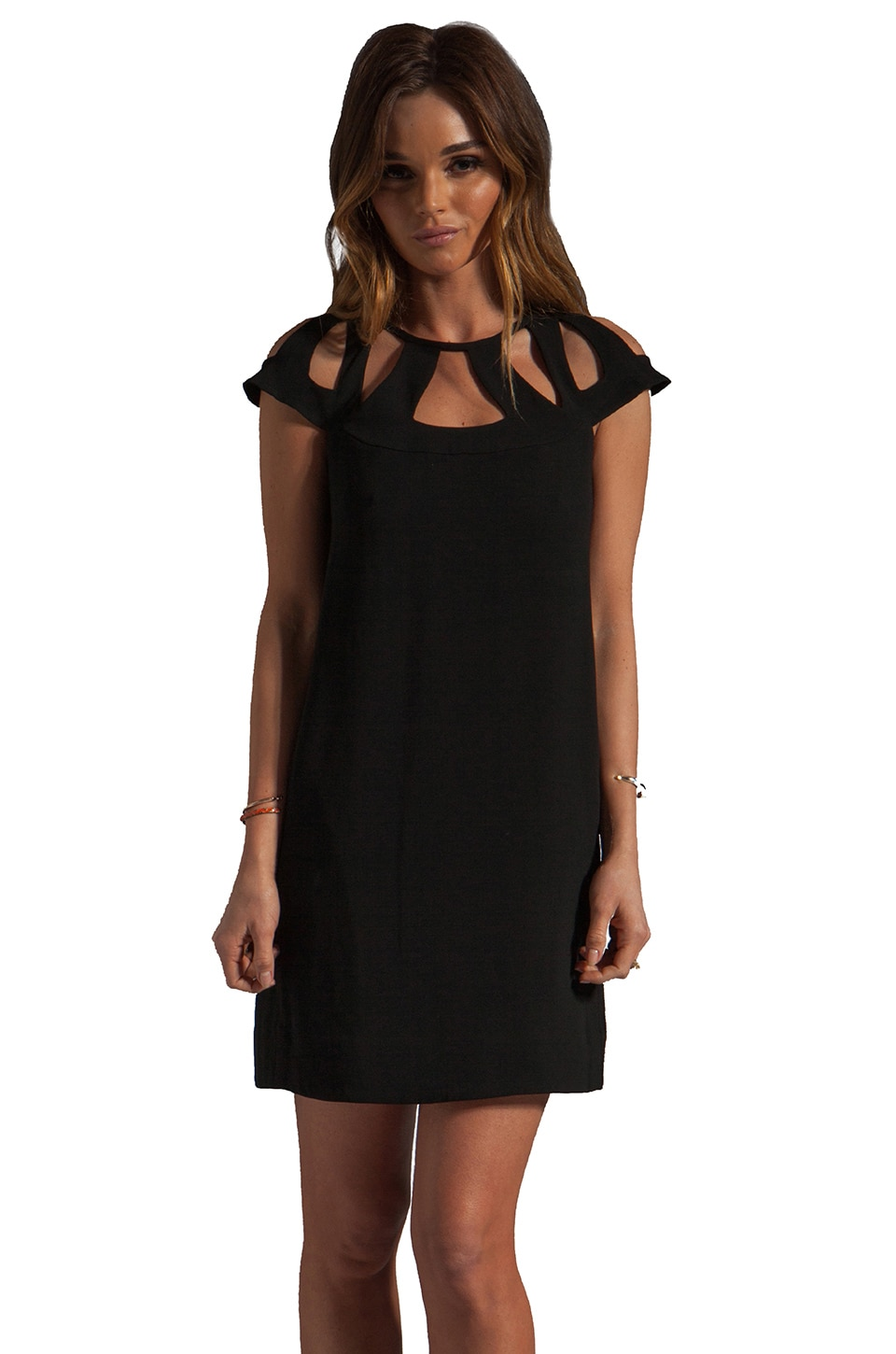 Diane von Furstenberg Achava Dress in Black