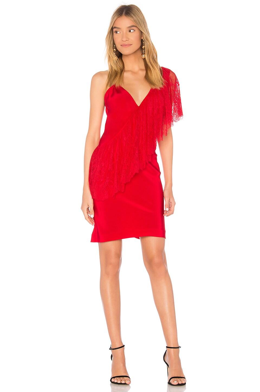 Ruffle Front Lace Dress by Diane von Furstenberg