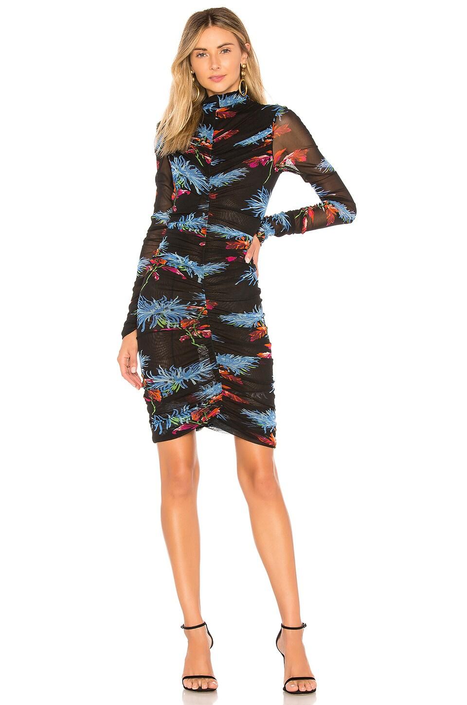 Diane von Furstenberg Olivia Mini Dress in Hewes Black