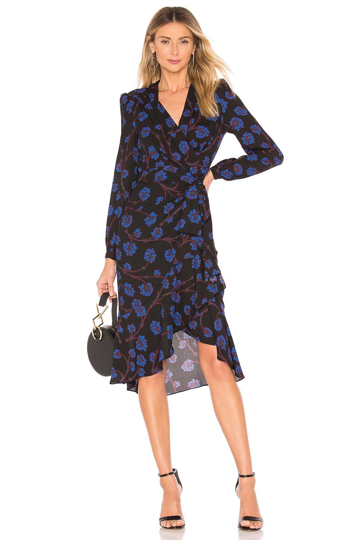 Diane von Furstenberg Jovie Wrap Dress in Dragon Berry Sapphire