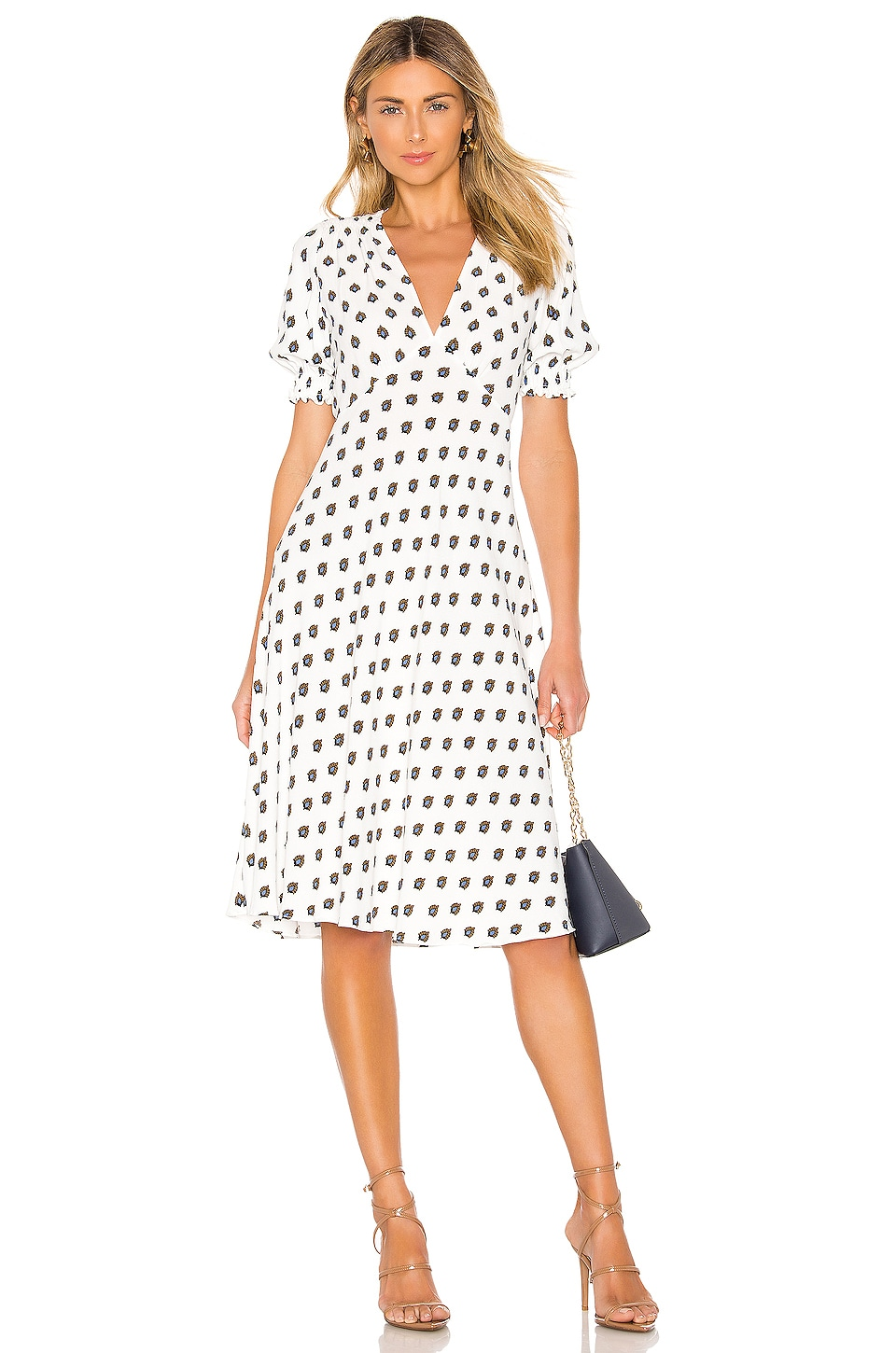 Diane von Furstenberg Jemma Dress in Fleur Dot & Ivory