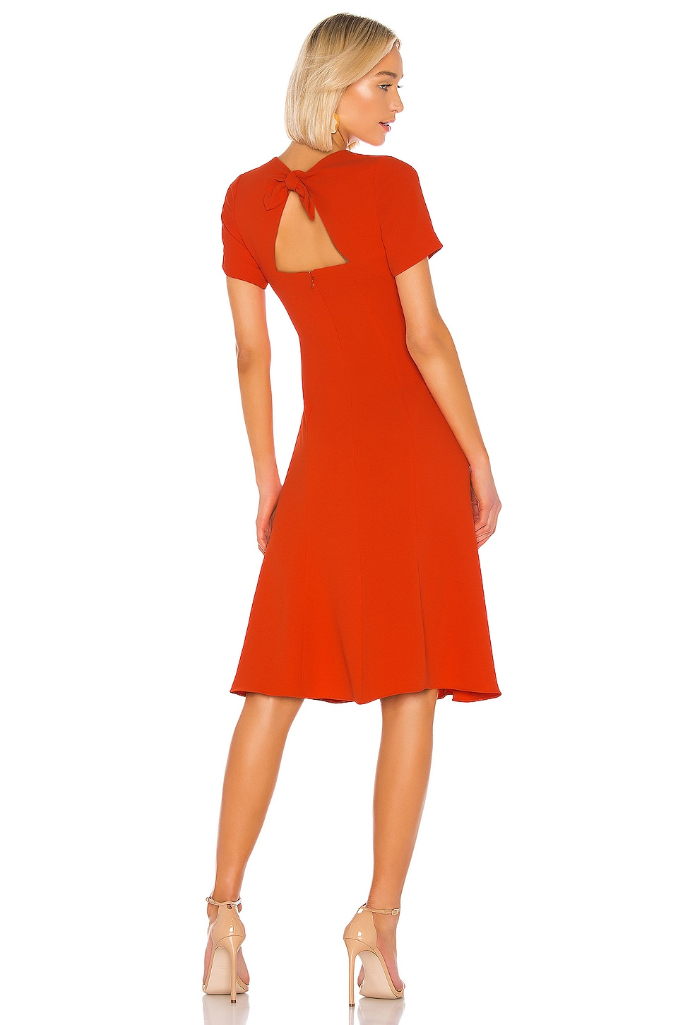 Diane von Furstenberg Rose Dress in Spicy Orange