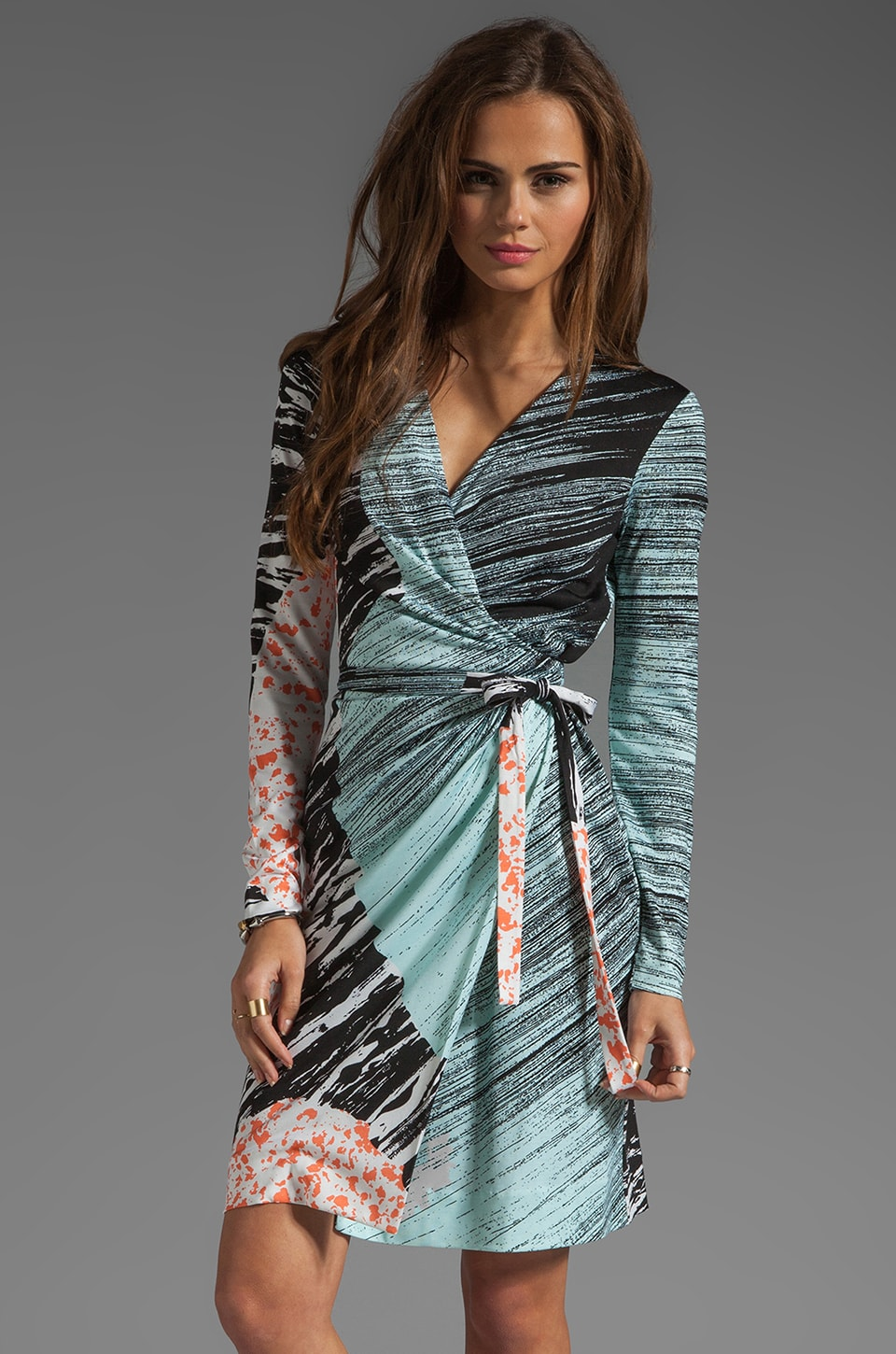 Diane von Furstenberg Valencia Dress in Rockscape