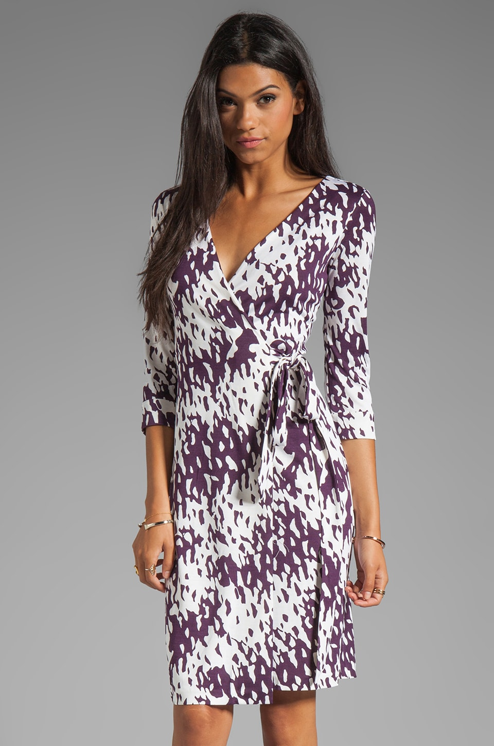 Diane von Furstenberg New Julian Two Dress in Shadow Forest Purple