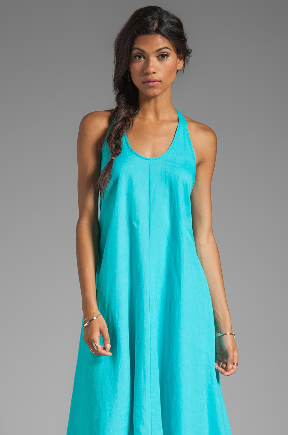 Diane von Furstenberg Carsandra Dress in Blue Lagoon