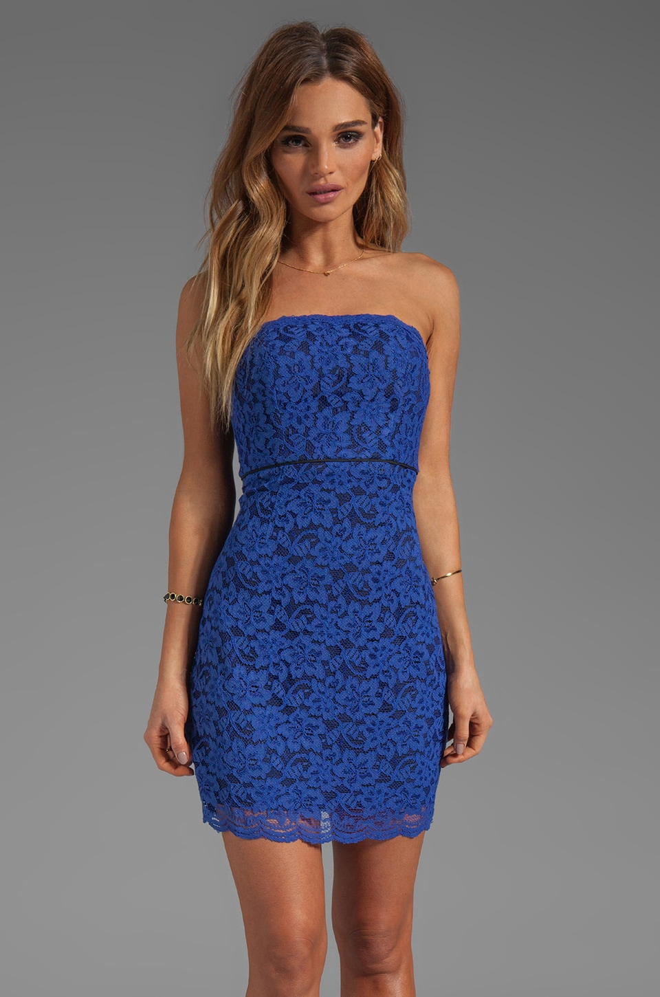 Diane von Furstenberg Walker Dress in Vivid Blue/Black