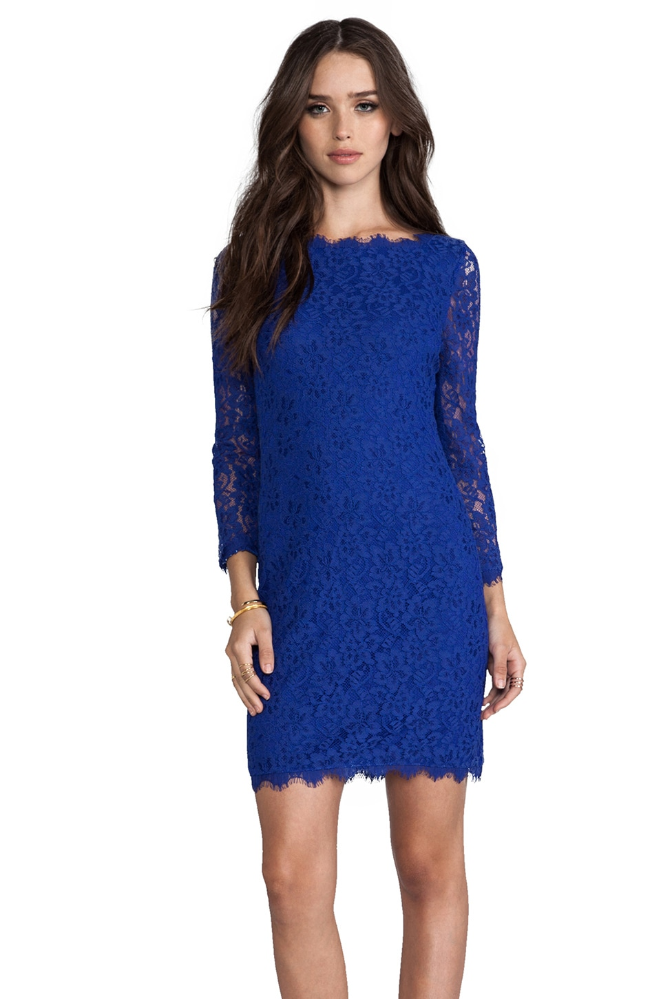 Diane von Furstenberg Zarita Dress in Vivid Blue